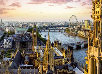 Auf Klassenfahrt mit HEROLÉ: Blick auf Skyline in London.