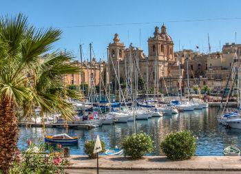 Auf Klassenfahrt mit HEROLÉ: Hafen von Valetta auf Malta.
