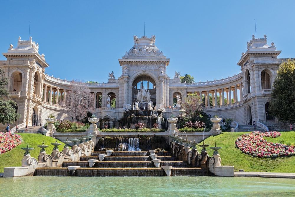 Historisch: Das Palais Longchamp erinnert an den Wassermangel des 19. Jahrhunderts.