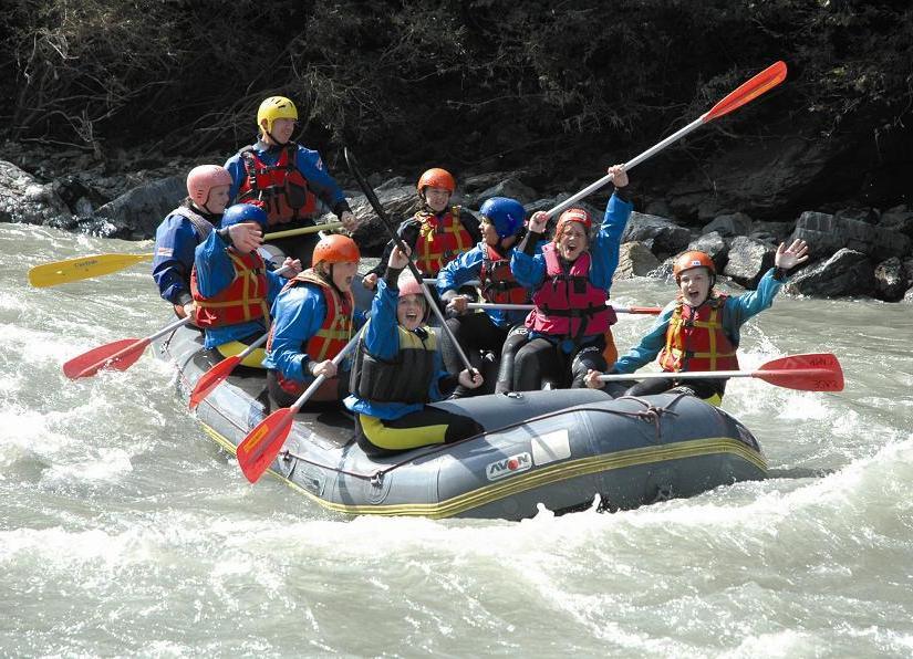 Rafting Sport Klassenfahrt