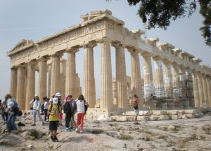Klasse an der Akropolis Griechenland