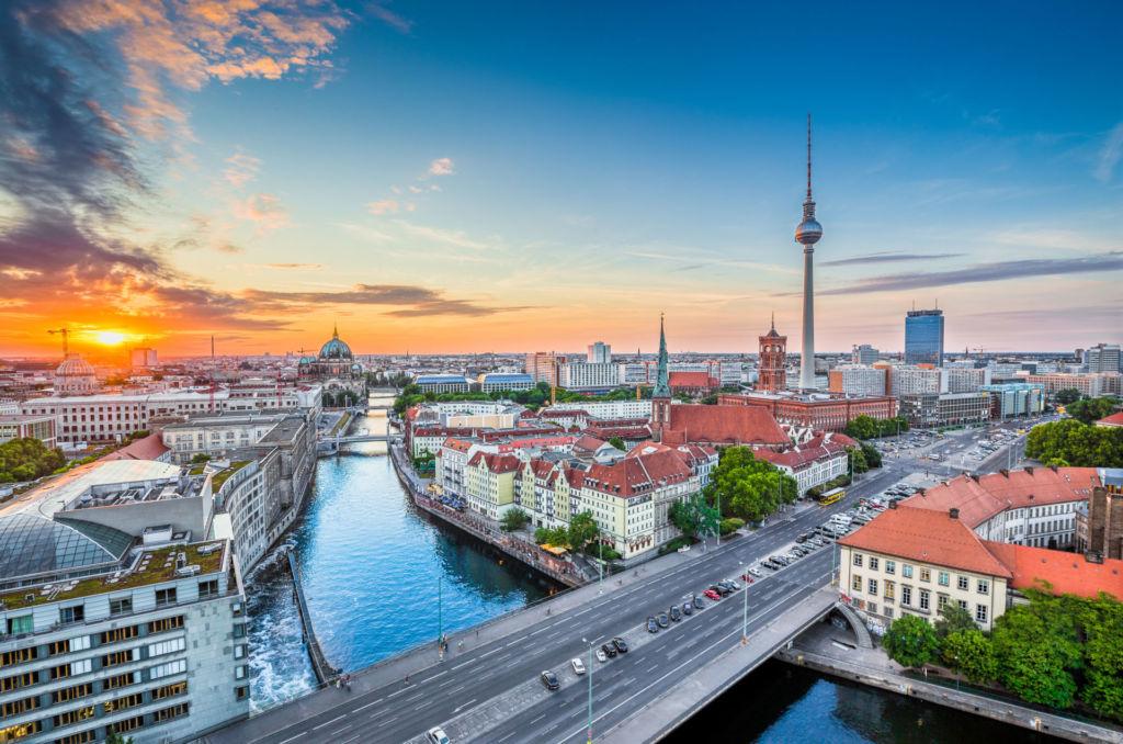 Blick über Berlin und auf den Fernsehturm