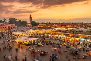 Blick auf Marrakesh von oben