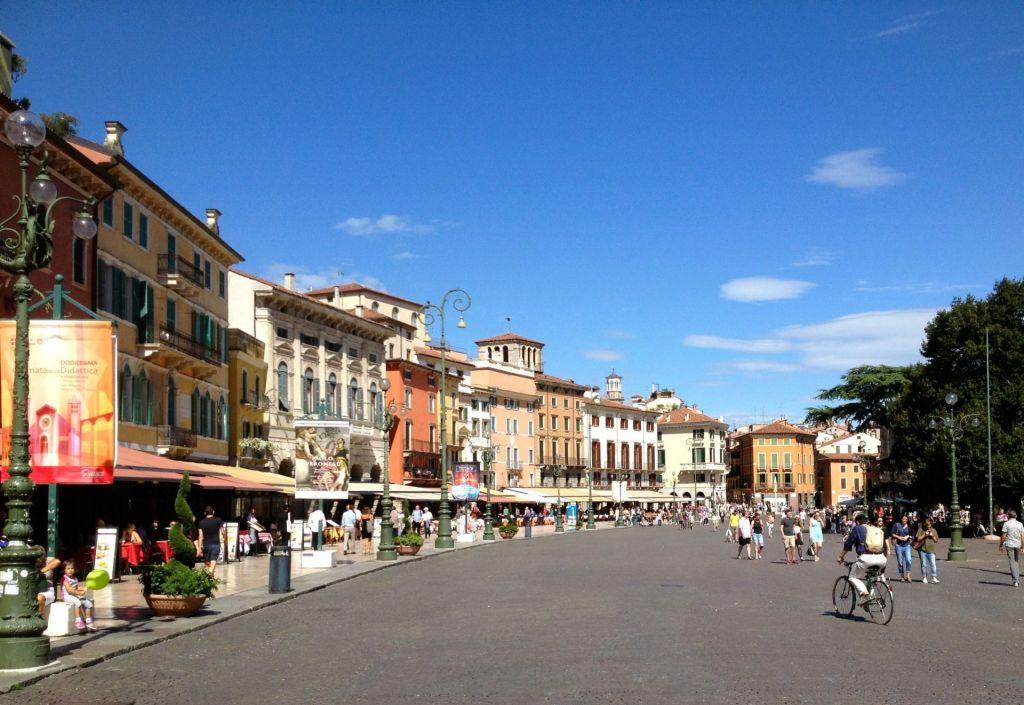 Blick in die kleinen Gassen in Verona