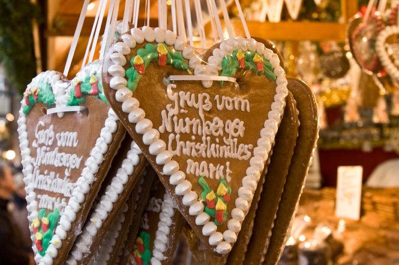 Lebkuchen kann man auf dem Christkindlmarkt Nürnberg erwerben