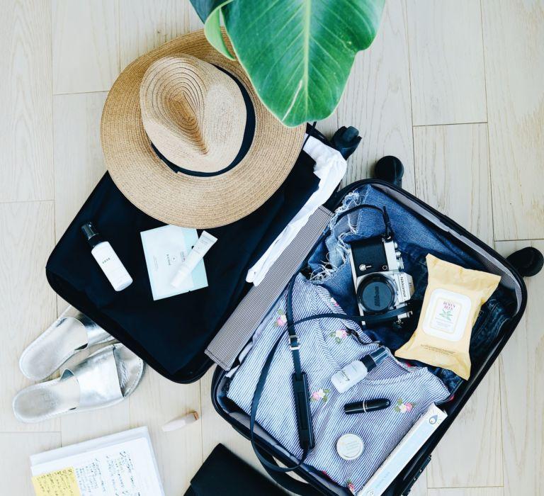 Blick in einen Handgepäckskoffer