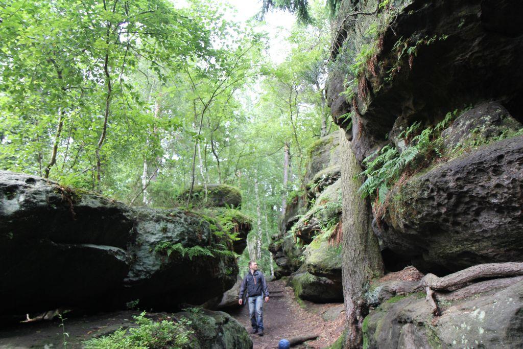 Die Sächsische Schweiz ist ein beliebtes Wanderziel. Besonders die beeindruckenden Felsenlabyrinthe sind Besuchermagnete.