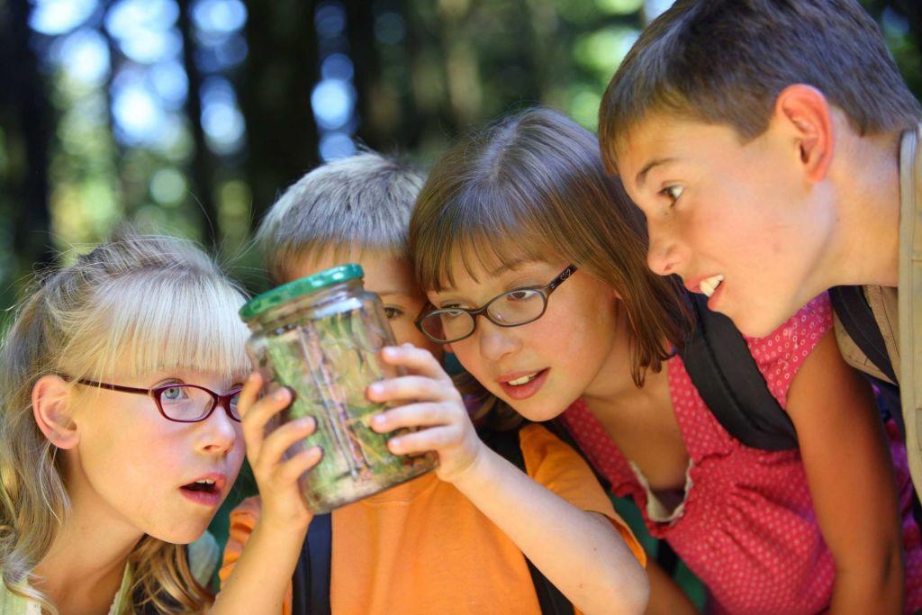 Grundschüler auf Klassenfahrt