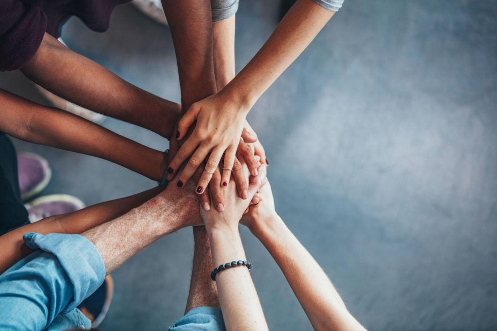 Hand in Hand können sich die Schüler gegenseitig unterstützen