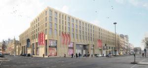 Aussenfassade des neu geöffneten MEININGER-Hostels in Berlin