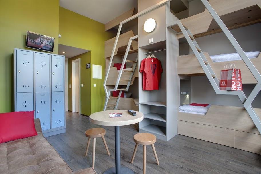 Blick in ein Zimmer des Meininger Hotel Berlins