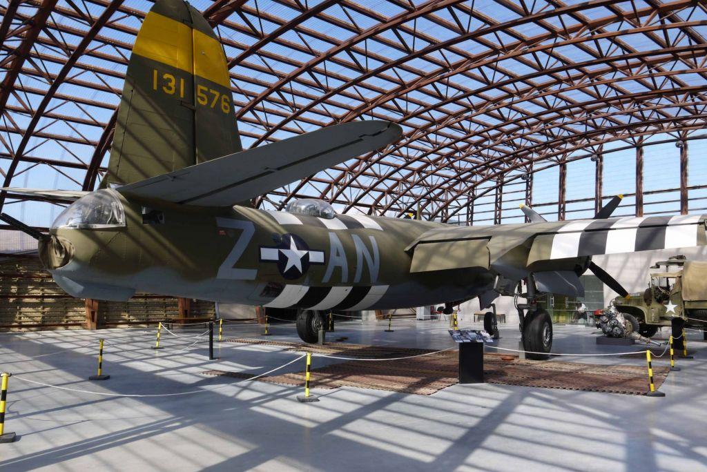Ein Originalbomber kann im Musée du Débarquement besichtigt werden.