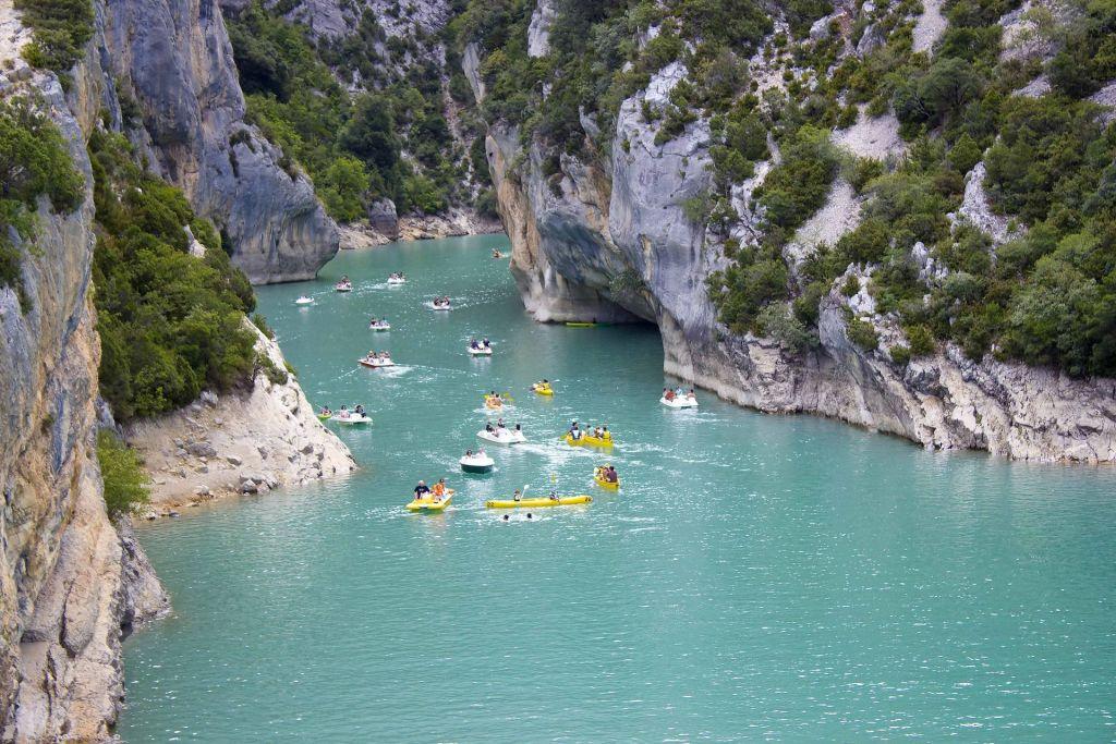 Ein Paradies für Sportler: Die Verdonschlucht ist für Wanderer und Wildwassersportler ideal.