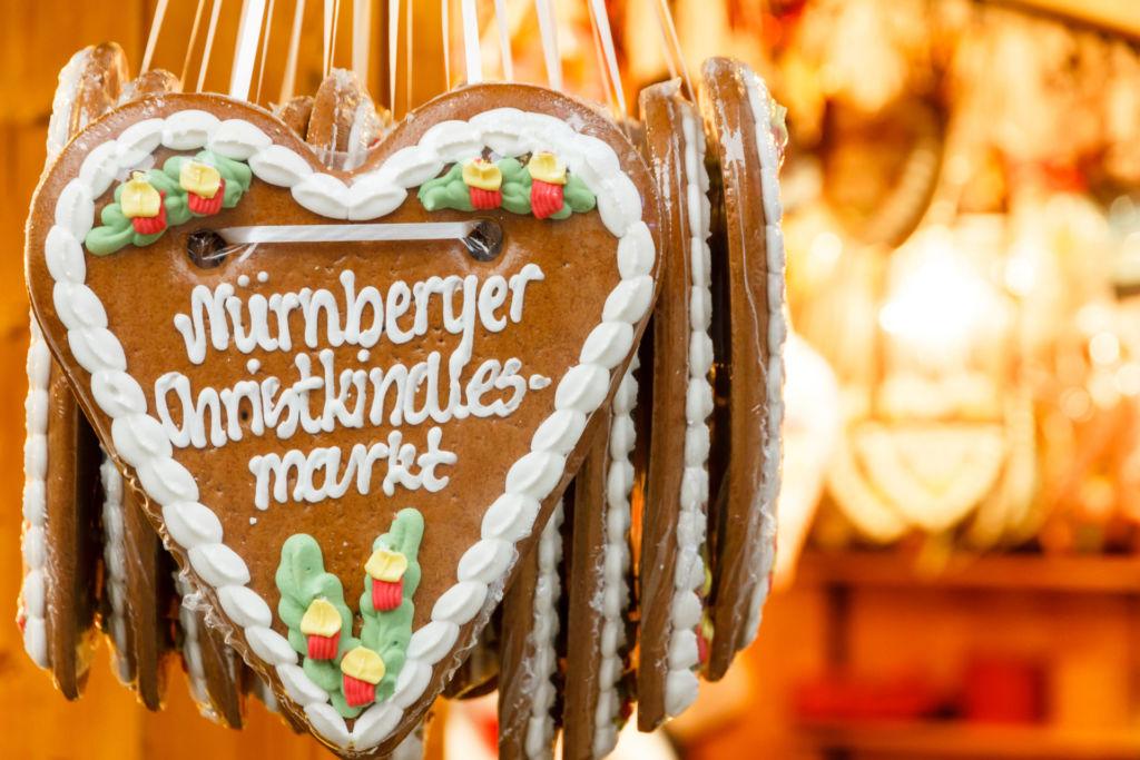Lebkuchen auf dem Christkindlesmarkt in Nürnberg.
