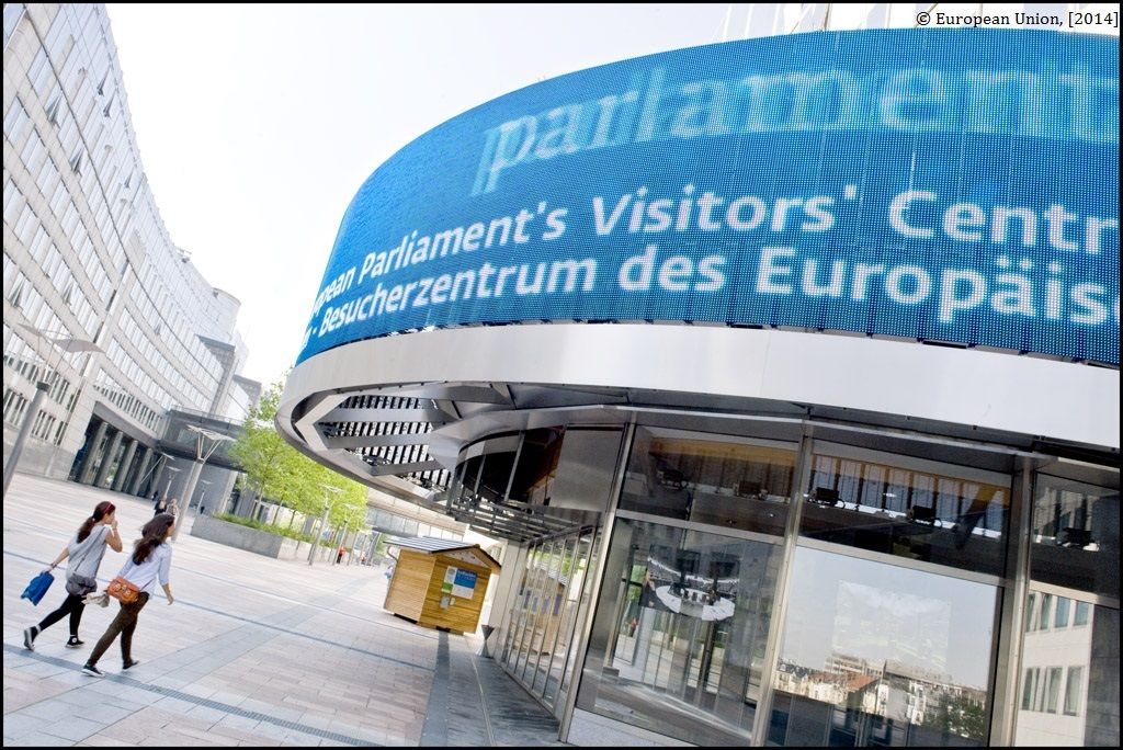 Außenansicht des Parlamentarium in Brüssel