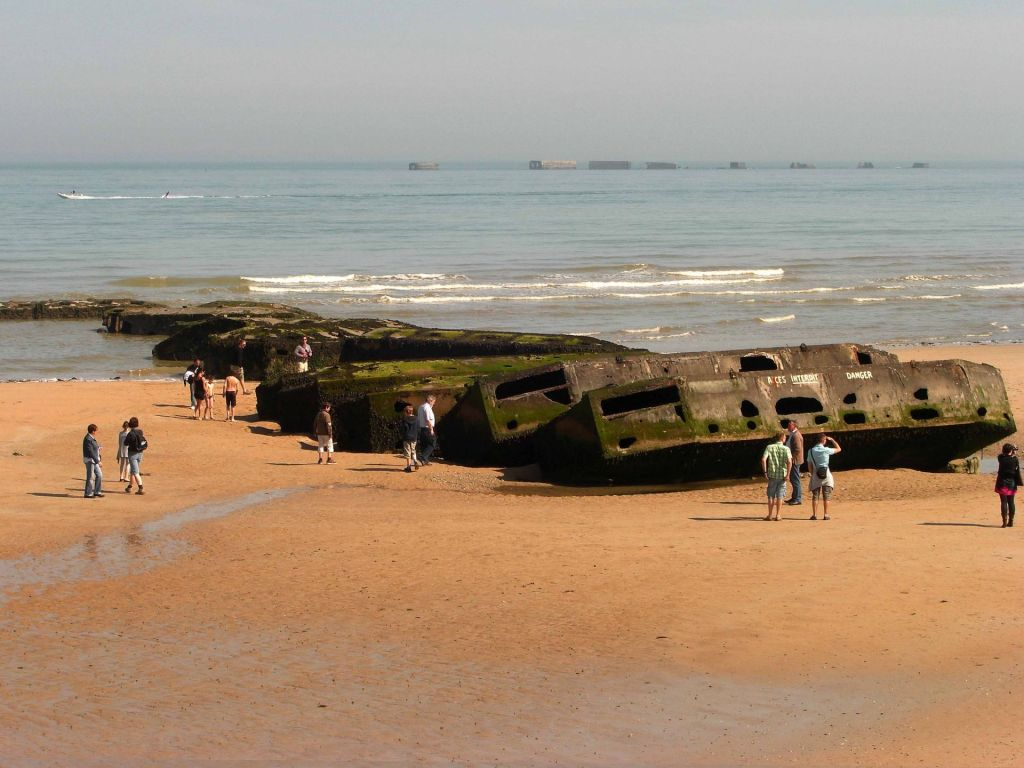 Entlang der Küste wird dem D-Day durch zahlreiche Denkmäler gedacht.