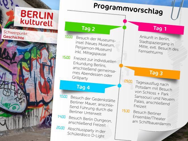 Wir haben für Sie tolle Programmvorschläge für Ihre Klassenfahrt mit dem Schwerpunkt Geschichte zusammengestellt.