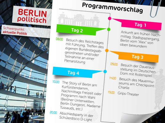 Wir haben für Sei tolle Programme für den Schwerpunkt Politik in Berlin zusammengestellt.