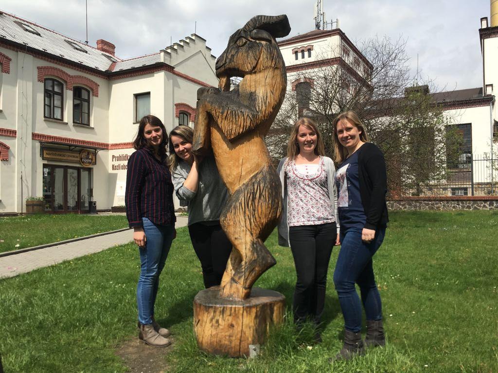 Blick auf die Reiseexperten Diana, Jana, Liesa und Nicole in Prag