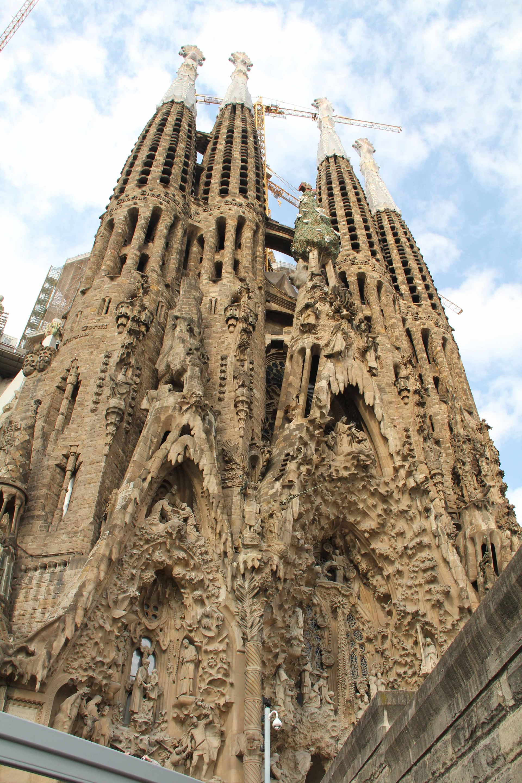 Unvollendeter Prachtbau: Die Kirche La Sagrada Familia.