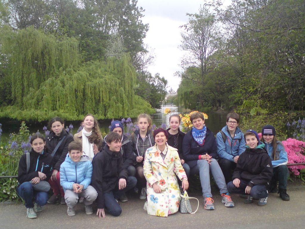 Schüler London St Jamespark