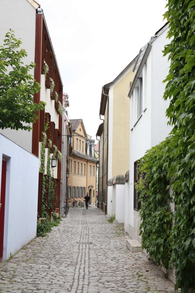Seifengasse mit Goethehaus in Weimar