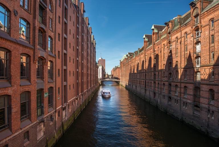 Blick auf die Speicherstadt Hamburg
